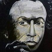 Картины и панно handmade. Livemaster - original item Painting on canvas. Musician. Miles Davis.. Handmade.