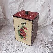 Для дома и интерьера handmade. Livemaster - original item Peas, basket for kitchen, decoupage. Handmade.