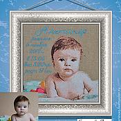 Картины и панно ручной работы. Ярмарка Мастеров - ручная работа Детские метрики по фотографии. Handmade.