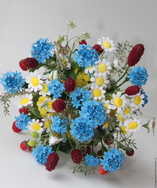 """Интерьерные композиции ручной работы. Ярмарка Мастеров - ручная работа. Купить """"Сочная полянка"""". Handmade. Полевые цветы"""