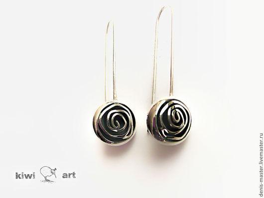 Ярмарка Мастеров, Kiwi Art Studio, серьги из серебра, серьги серебро, серьги из серебра 925, серьги серебро 925, серебряные серьги, серебро серьги, серебряные серьги 925,