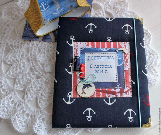 Подарки для новорожденных, ручной работы. Ярмарка Мастеров - ручная работа. Купить Папка для свидетельства о рождении Морячок. Handmade. Комбинированный