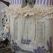 Houses handmade. Livemaster - original item Textile House-pendant with embroidery. Lavender. Guardian.. Handmade.