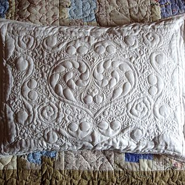 "Для дома и интерьера handmade. Livemaster - original item White, quilted pillowcase ""Sweet Dream"". Handmade."