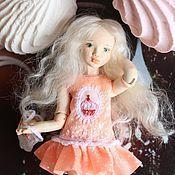 Куклы и игрушки ручной работы. Ярмарка Мастеров - ручная работа Зефирка (шарнирная куколка). Handmade.