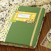 Канцелярские товары handmade. Livemaster - original item Mother`s diary for a boy. Handmade.