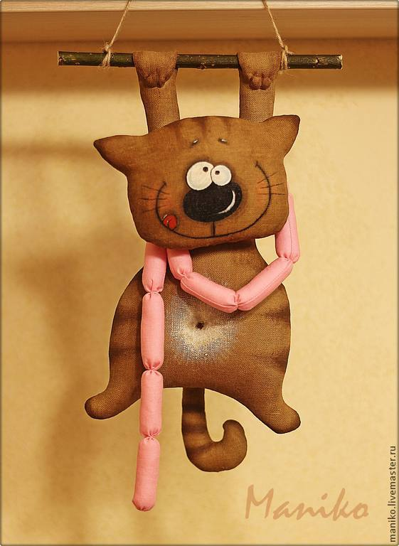 Интерьерные игрушки своими руками интерьерные котики 36