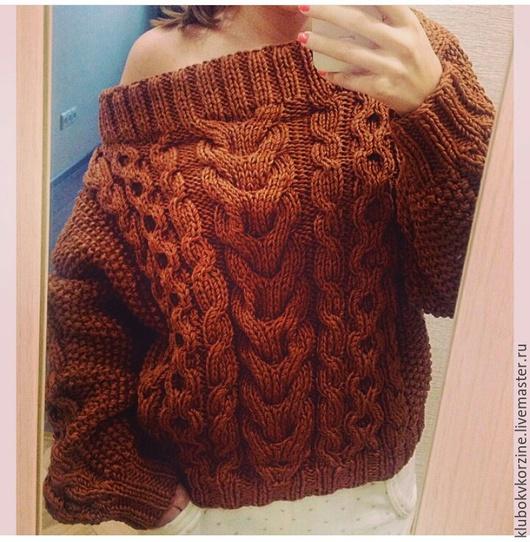 Кофты и свитера ручной работы. Ярмарка Мастеров - ручная работа. Купить свитер с косами и аранами. Handmade. Разноцветный, аранские узоры