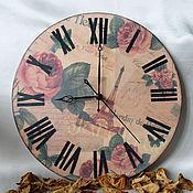 Для дома и интерьера ручной работы. Ярмарка Мастеров - ручная работа Часы Розовый винтаж. Handmade.