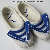 """Обувь ручной работы. Ярмарка Мастеров - ручная работа тапочки """"морячка"""". Handmade."""