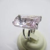 Украшения handmade. Livemaster - original item Ring with pink Topaz. 925 sterling silver PR.. Handmade.