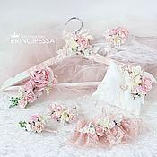 """Свадебный салон ручной работы. Ярмарка Мастеров - ручная работа """"Розовая изящность"""" свадебный набор. Handmade."""