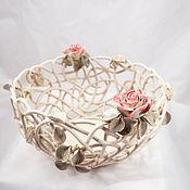 handmade. Livemaster - original item Fruit bowl Transparency d22cm. Handmade.
