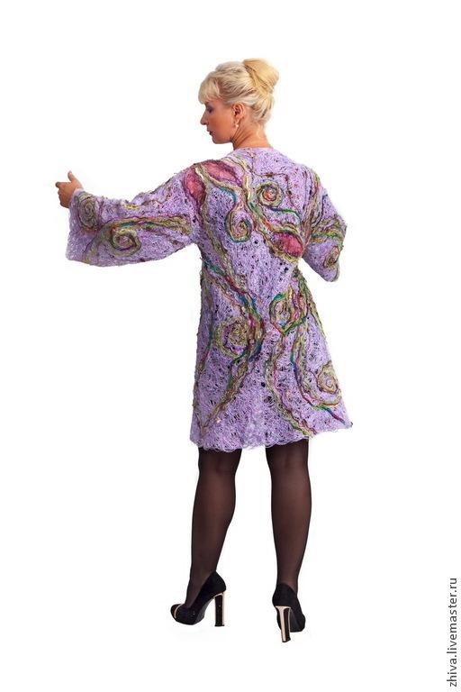 Пиджаки, жакеты ручной работы. Ярмарка Мастеров - ручная работа. Купить Кимоно Сиреневые грезы. Handmade. Сиреневый, жакет, органза