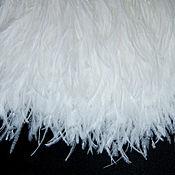 Материалы для творчества handmade. Livemaster - original item Copy of Trim of ostrich feathers 10-15 cm white and milk. Handmade.