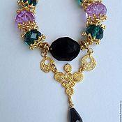 Украшения handmade. Livemaster - original item Set of jewelry in Oriental style Flowered lilac.. Handmade.
