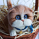 Order The ginger cat toy from wool. handmade toys by Mari. Livemaster. . Felted Toy Фото №3