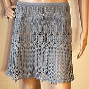 Одежда handmade. Livemaster - original item Crochet skirt Lucy. Handmade women summer crochet skirt. Handmade.