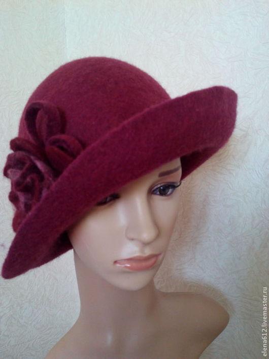 """Шляпы ручной работы. Ярмарка Мастеров - ручная работа. Купить Шляпа """"Мисс Дулиттл"""". Handmade. Бордовый, подарок маме"""