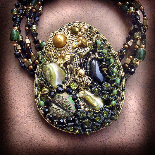 Jewelry Sets handmade. Livemaster - handmade. Buy Kit - transformer 'Dangerous journey'.Olive
