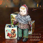 Куклы и игрушки ручной работы. Ярмарка Мастеров - ручная работа Елочная игрушка из ваты Вовочка. Handmade.