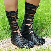 Обувь ручной работы manualidades. Livemaster - hecho a mano Altos mocasines de cuero negro original. Handmade.