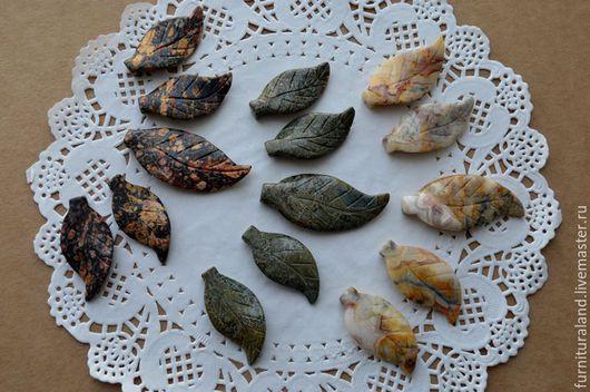 """Для украшений ручной работы. Ярмарка Мастеров - ручная работа. Купить Сет подвесок из камня """"Листья"""", 3 цвета.. Handmade."""