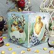 """Подарки к праздникам ручной работы. Ярмарка Мастеров - ручная работа подсвечник со свечой """"Пасхальные цыплята"""". Handmade."""