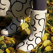 """Обувь ручной работы. Ярмарка Мастеров - ручная работа Комплект """"Шоколадные узоры"""". Handmade."""