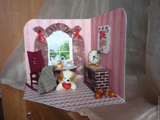 """Кукольный дом ручной работы. Ярмарка Мастеров - ручная работа. Купить Румбокс """" Уютная осень"""". Handmade. Подарок девочке"""