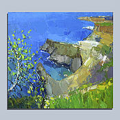 Картины и панно handmade. Livemaster - original item Is the blue Black sea. Oil painting. Handmade.