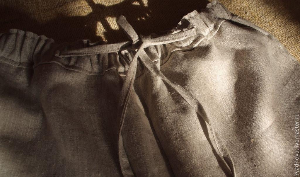 Как сшить брюки лен 194