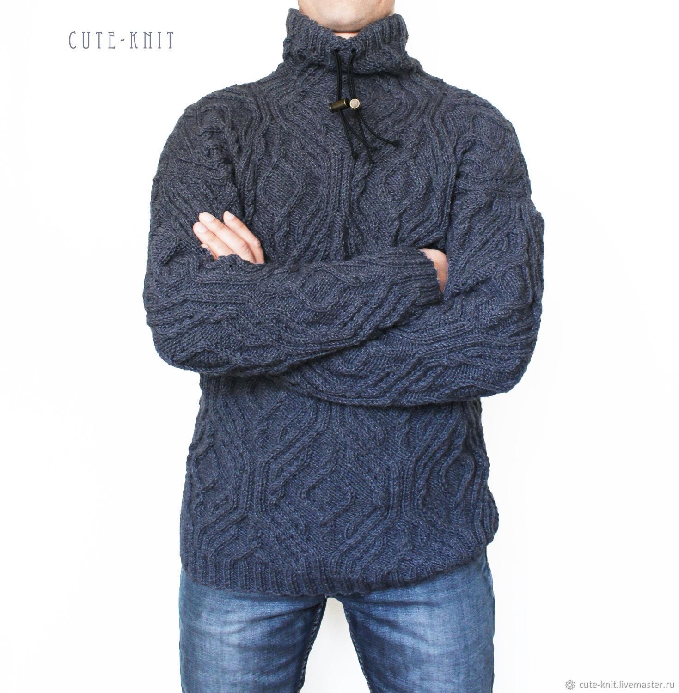 3328ca99342 Свитер мужской серый – купить в интернет-магазине на Ярмарке ...