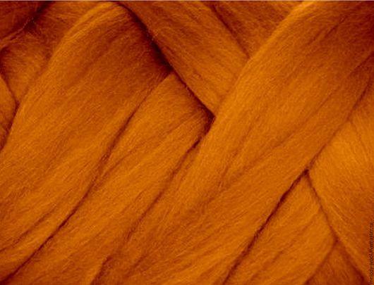 Валяние ручной работы. Ярмарка Мастеров - ручная работа. Купить Шерсть для валяния меринос 18 микрон цвет Корица (Cinnamon). Handmade.