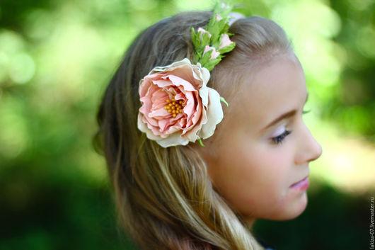 Диадемы, обручи ручной работы. Ярмарка Мастеров - ручная работа. Купить Шебби розы из фоамирана на ободке. Handmade. Комбинированный