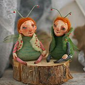 Куклы и игрушки ручной работы. Ярмарка Мастеров - ручная работа Мухи весенние. Handmade.