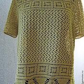 Одежда handmade. Livemaster - original item tunic knitted crochet Mustard. Handmade.