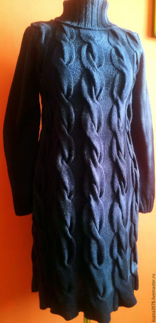 Платья ручной работы. Ярмарка Мастеров - ручная работа. Купить платье косы. Handmade. Тёмно-синий, оригинальный, теплая одежда