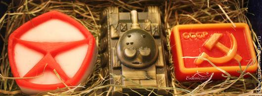 Подарочный набор мыла для мужчин. .Подарки к праздникам. 23 февраля.