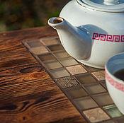 Для дома и интерьера ручной работы. Ярмарка Мастеров - ручная работа Чайный столик, который хочется трогать. Handmade.