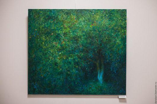 """Пейзаж ручной работы. Ярмарка Мастеров - ручная работа. Купить """"Сказка про яблоню"""" (2015 г). Handmade. Тёмно-зелёный"""