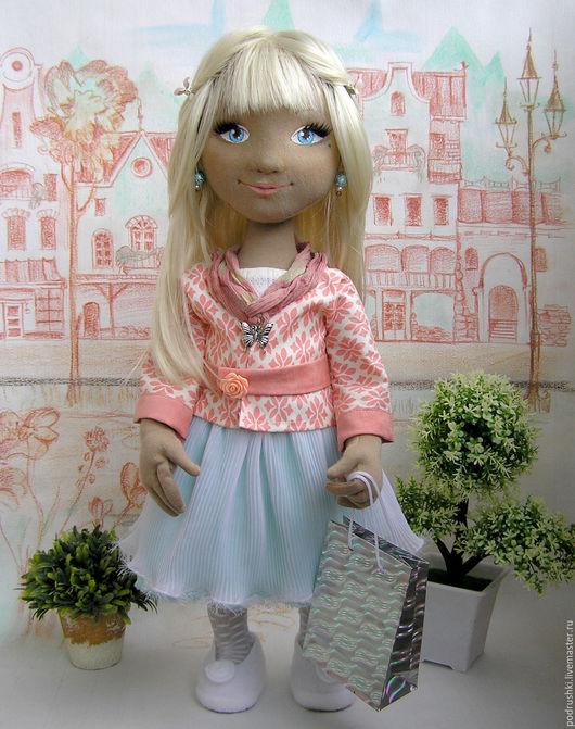 Коллекционные куклы ручной работы. Ярмарка Мастеров - ручная работа. Купить Кукла текстильная Ксюша. Handmade. Белый, кукла для девочки