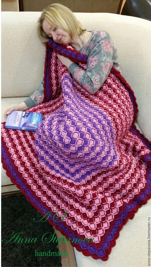 Текстиль, ковры ручной работы. Ярмарка Мастеров - ручная работа. Купить Мой любимый позитив). Handmade. Плед, подарок