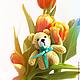 Игрушки животные, ручной работы. Вязаная игрушка Медвежонок-мини. Vol4iwa (vol4iwa). Интернет-магазин Ярмарка Мастеров. Медвежонок, подарок