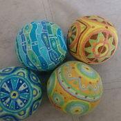 Куклы и игрушки ручной работы. Ярмарка Мастеров - ручная работа Мячик - погремушка. Handmade.