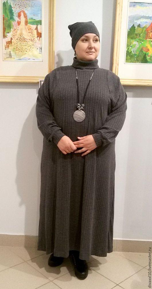 Платья ручной работы. Ярмарка Мастеров - ручная работа. Купить Платье серое трикотажное. Handmade. Серый, платье на осень