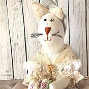 Для дома и интерьера ручной работы. Ярмарка Мастеров - ручная работа Пакетница кошка в стиле прованс.. Handmade.