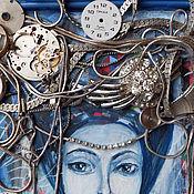 """Картины и панно ручной работы. Ярмарка Мастеров - ручная работа Картина """"Синее самых синих васильков"""". Handmade."""