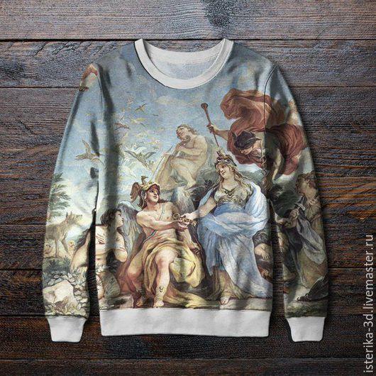 Кофты и свитера ручной работы. Ярмарка Мастеров - ручная работа. Купить Кофта с принтом Средневековое искусство  - модный подарок. Handmade.