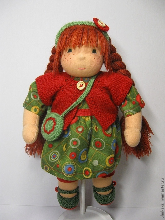 Вальдорфская игрушка ручной работы. Ярмарка Мастеров - ручная работа. Купить Рыжик , 30 см.. Handmade. Вальдорфская кукла
